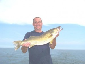 bring it on walleye charters trophy walleye catch from the waters of conneaut ohio lake erie usa